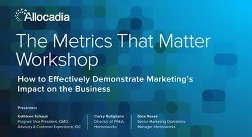 Workshop Slides - The Metrics that Matter