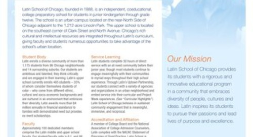 Latin School Profile for College Admission 2018