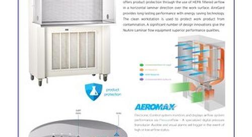 [Flyer] AireGard NU-340 Console Style Horizontal Laminar Airflow Workstation