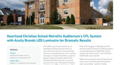 Heartland Christian School Retrofits Auditorium's CFL System with Acuity Brands LED Luminaire for Dramatic Results