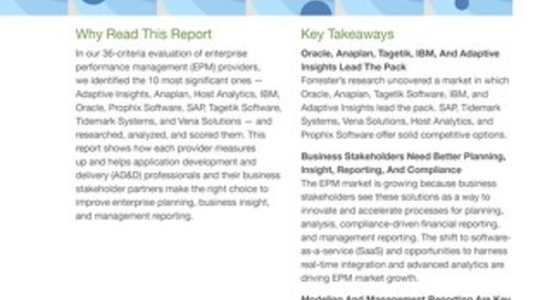 Forrester Wave Report - Enterprise Performance Management