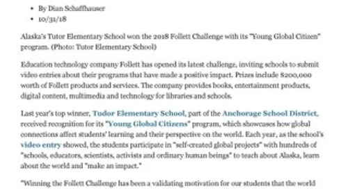 Follett Challenge Invites Schools to Sh... with a Positive Impact -- THE Journal