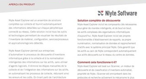 Nlyte Asset Explorer Overview FRANCE 8.5x11