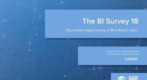 BARC BI Survey 18: Looker Highlights (English)