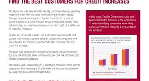Find the Best Customers for Credit Increases