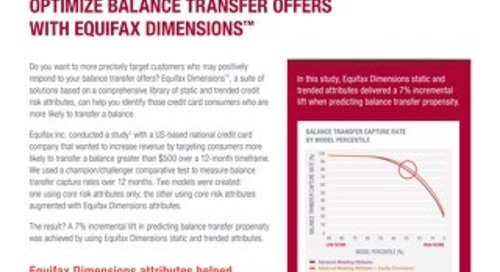 Optimize Balance Transfer Offers with Equifax Dimensions