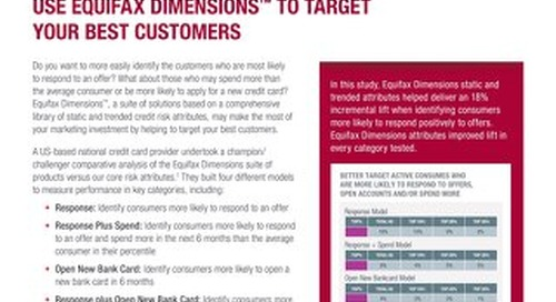 Use Equifax Dimensions to Target Your Best Customers