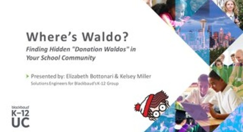 "Finding Hidden ""Donation Waldos"" in Your School Community"