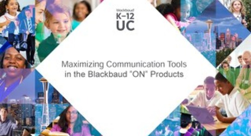 Maximizing Communication Tools in Blackbaud ON Products