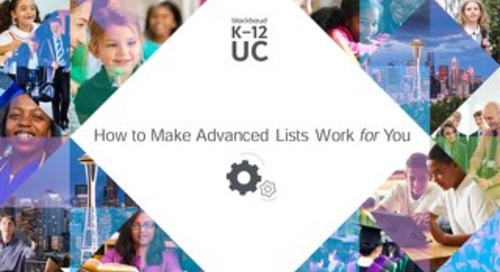 How to Make Advanced Lists Work for You