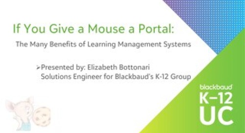 If You Give a Mouse a Portal: The Many Benefits of Learning Management Systems
