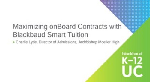 Maximizing onBoard Contracts with Blackbaud Smart Tuition