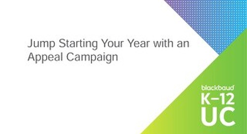 Jump-Start Your Year with an Appeal Campaign