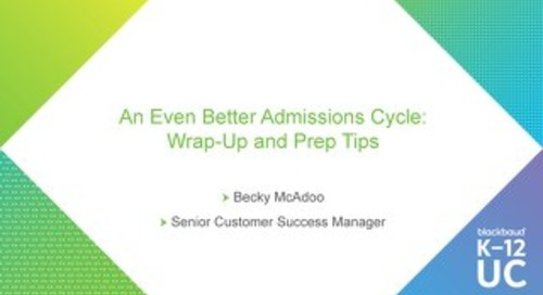 An Even Better Admissions Cycle