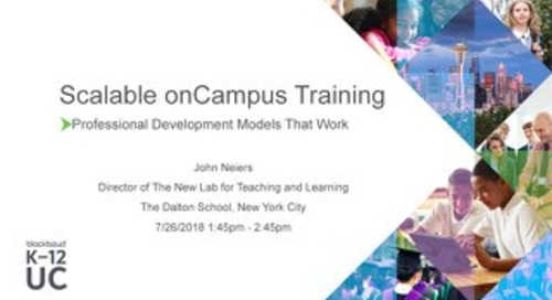 Scalable onCampus Training: A Program That Works