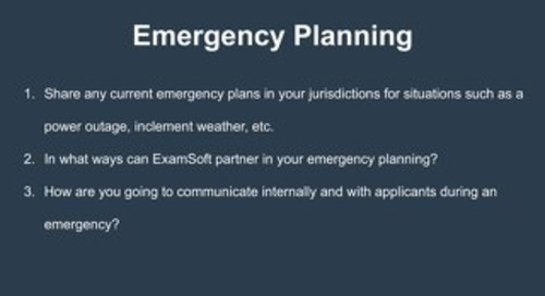 Emergency Planning Workshop
