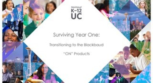 Surviving Year One: Transitioning to the Blackbaud ON Products