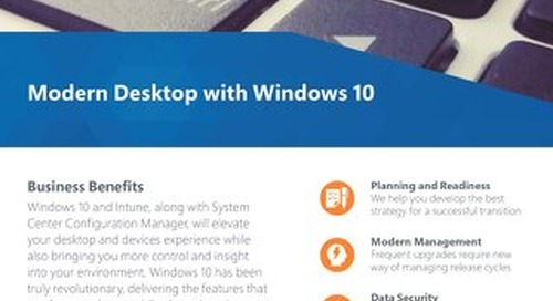 Modern Desktop with Windows 10 Flyer