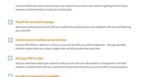 SnapApp for PDF Promotion Checklist