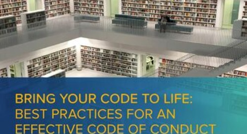 Bring Your Code To Life: Best Practices for an Effective Code of Conduct