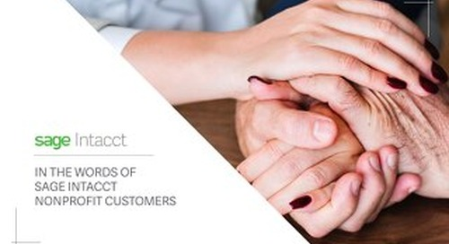 In the Words of Sage Intacct Nonprofit Customers