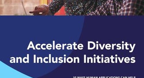 10 Ways Human Applications Accelerate D&I Initiatives