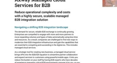 Elevate your game with Axway B2B Cloud Managed Services