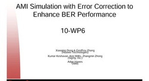 AMI Simulation with Error Correction to Enhance BER Performance Conference Presentation