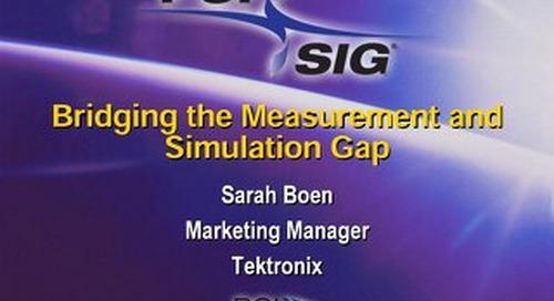 Bridging the Measurement and Simulation Gap