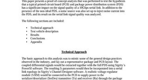Effect of Power Noise on Multi-Gigabit Serial Links