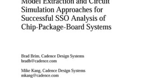 Model Extraction and Circuit Simulation Approaches for Successful SSO Analysis of Chip-Package-Board Systems