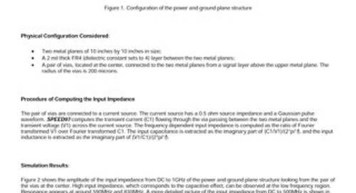 The Facts about the Input Impedance of Power and Ground Planes