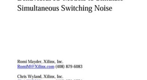 Using Power Aware IBIS v5.0 Behavioral IO Models to Simulate Simultaneous Switching Noise