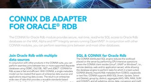 CONNX DB Adapter for Oracle® RDB