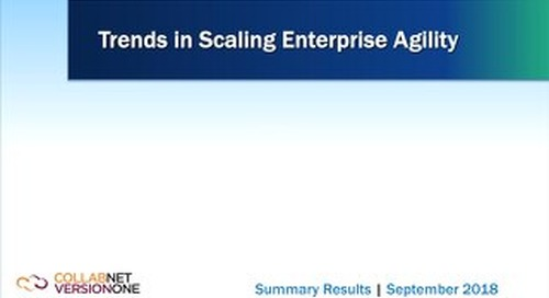 Trends in Scaling Enterprise Agility Report