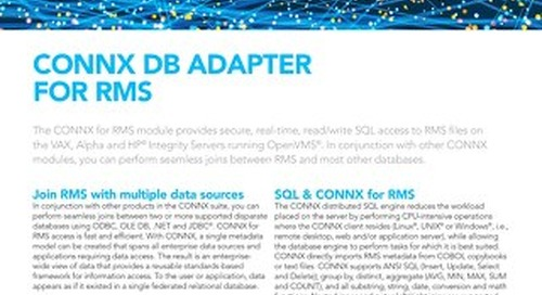 CONNX DB Adapter for RMS