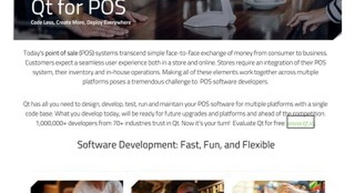 DataSheet: Qt for Point of Sale (POS) Systems