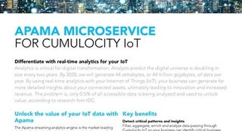 Apama Microservice for Cumulocity IoT