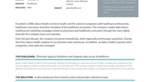 Aptus Health Case Study: Leveraging Data Insights for Targeted Healthcare Engagement