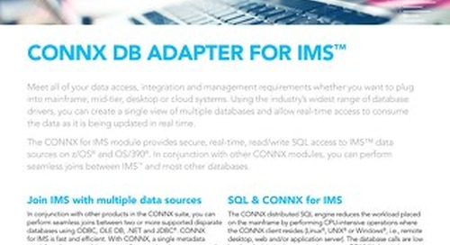 CONNX DB Adapter for IMS™