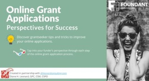 Online Grant Applications: Perspectives for Success