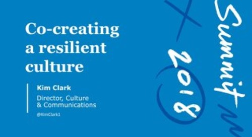 [Presentation] Co-Creating a Resilient Culture