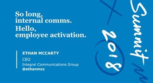 Hello Employee Activation, Goodbye Internal Comms (Slide Deck)