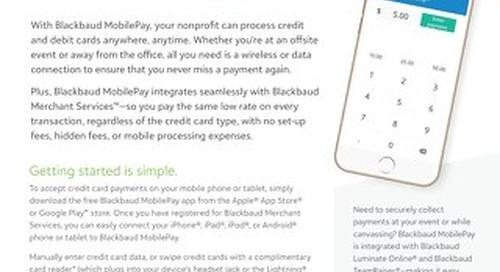 Blackbaud MobilePay Datasheet