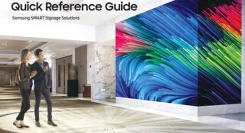 Samsung Quick Reference Guide - SMART Signage Solutions