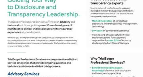 TrialScope Professional Services Overview