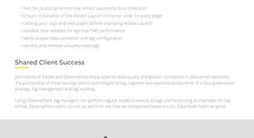 Launch by Adobe & ObservePoint: A Data Quality Feedback Loop