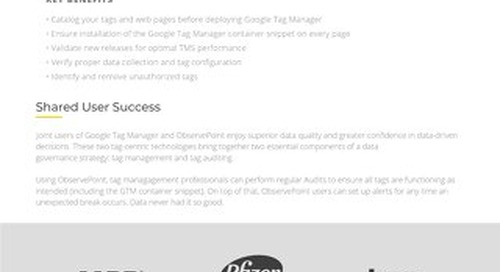 Google Tag Manager & ObservePoint: A Data Quality Feedback Loop