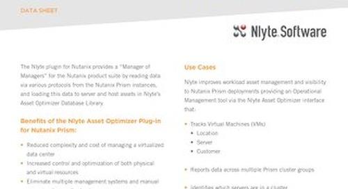 Nlyte Insight for Nutanix