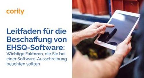 Leitfaden für die Beschaffung von EHSQ-Software